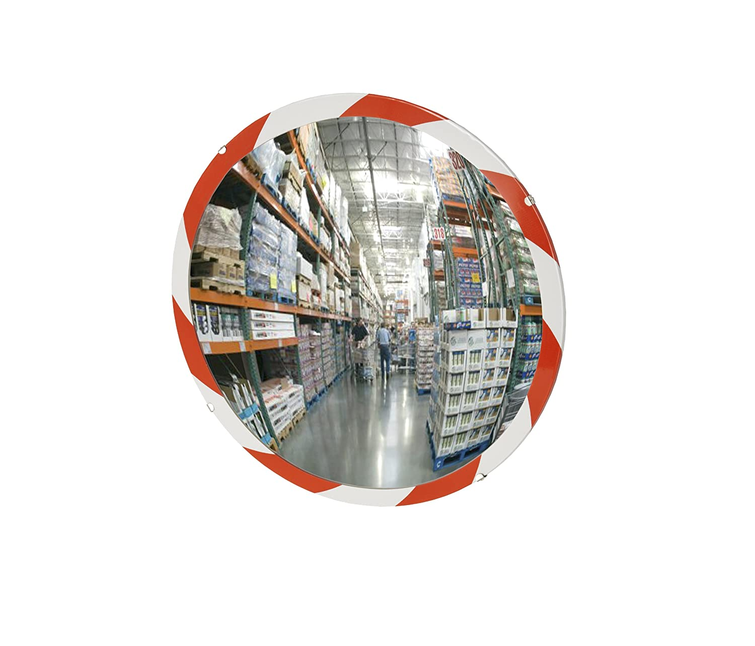 See All PLXO12RT Convex Mirror Acrylic Plastic Face High Visibility Edge 12 Diameter Outdoor Use