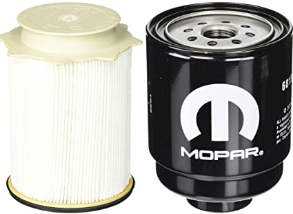 dodge ram 6 7 liter diesel fuel filter water separator set mopar oem, fuel  & water separators - amazon canada