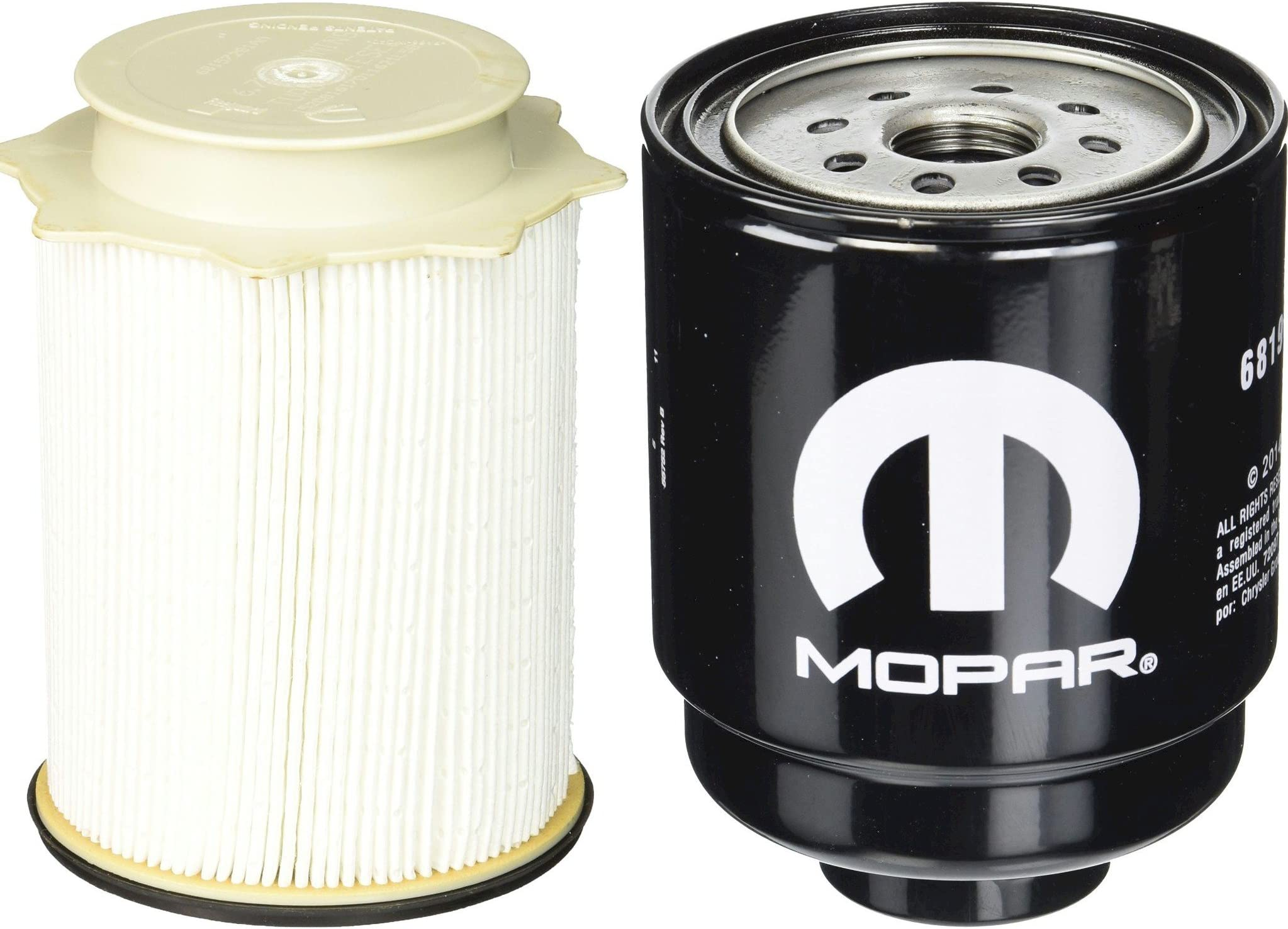 amazon com fuel filters replacement parts automotivedodge ram 6 7 liter diesel fuel filter water separator set mopar oem