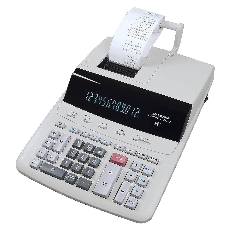 Sharp CS2635RHGYSE - Calculadora con impresora: Amazon.es: Oficina ...