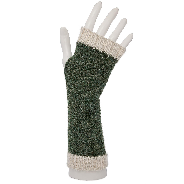 100% Alpaca Fingerless Mittens Wristwarmers
