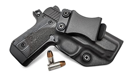 Concealment Express IWB KYDEX Holster: fits Kimber Micro 9 (CF BLK, RH) -  Inside Waistband Concealed Carry - Adj  Cant/Retention - US Made