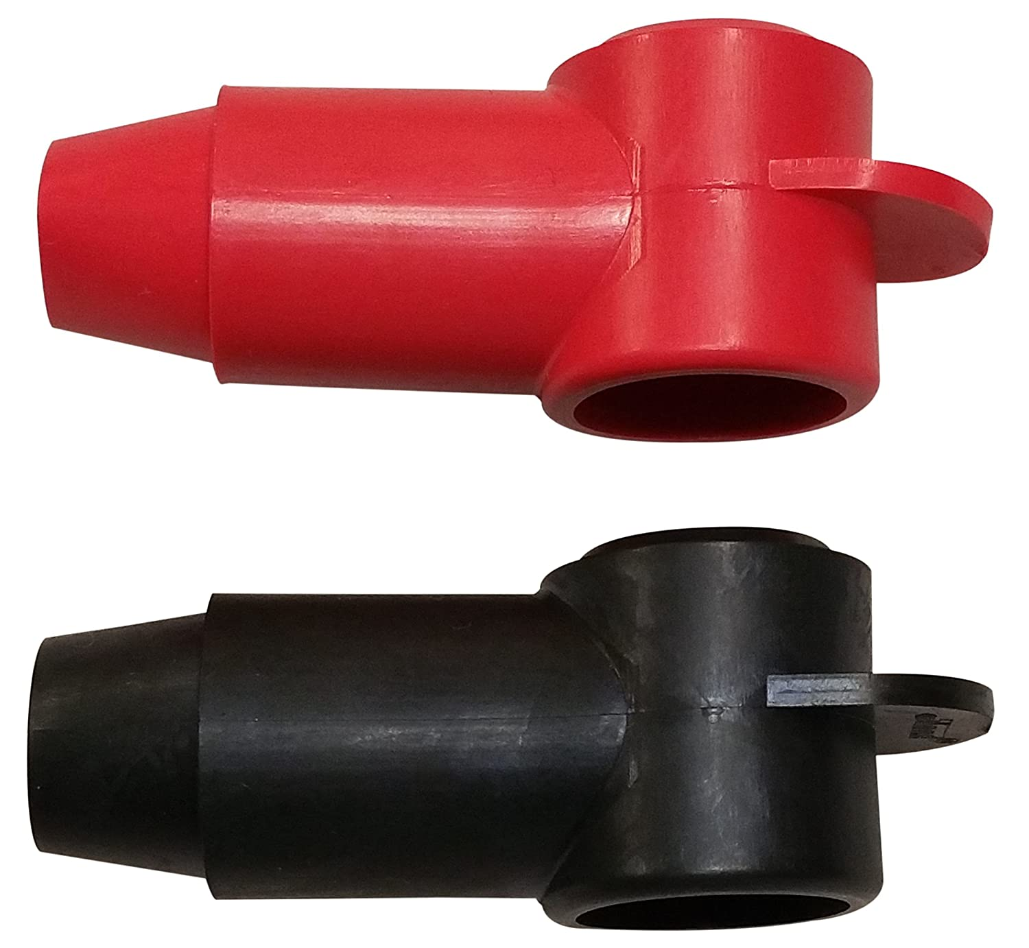 "(rot & Black) 3/8"" Stud Terminal Cover - Electrical Battery Connection Insulator (2 Pack)"