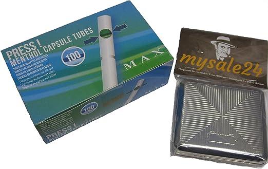 Los cigarrillos de filtro de agua de tabaco de liar filtros de con de Mentol click (