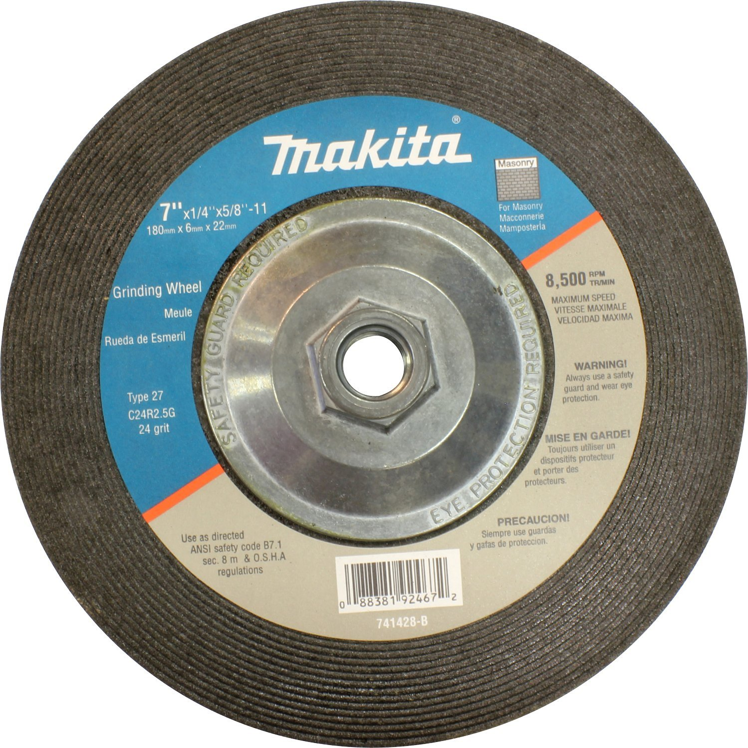 Makita 741428-B-10 7-Inch Masonry Wheel, 10-Pack (Discontinued by Manufacturer)
