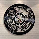 Kingdom Hearts Anime Vinyl Record Design Wall Clock - Decorate your home with Modern Kingdom Hearts Story Characters Art - Best gift for him and her, girlfriend or boyfriend - Win a prize for feedback