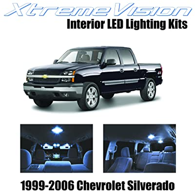 Xtremevision Interior LED for Chevy Silverado 1999-2006 (13 Pieces) Cool White Interior LED Kit + Installation Tool: Automotive
