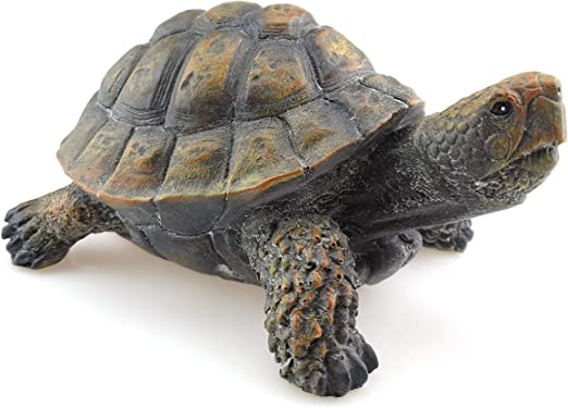 Bambelaa! Figura decorativa de tortuga para jardín, tamaño grande, para interior y exterior, aprox. 15 x 12 x 8 cm, color verde y marrón: Amazon.es: Jardín