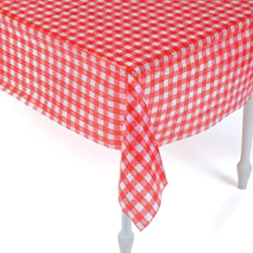 Merveilleux Plastic Red And White Checkered Tablecloths   12 Pc   Picnic Table Covers