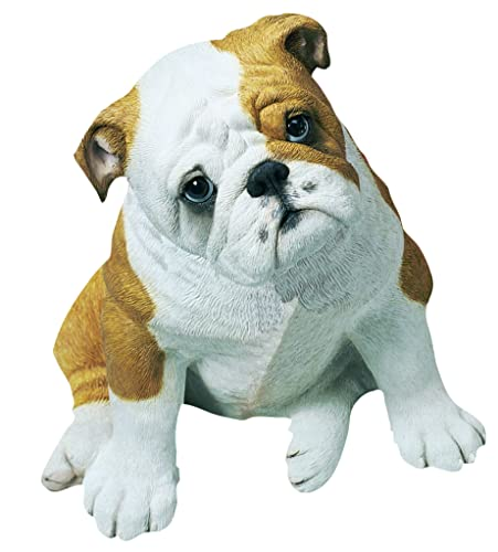 Sandicast Life Size Fawn Bulldog Puppy Sculpture, Sitting