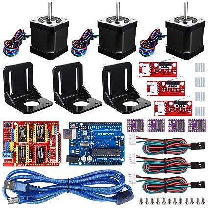 kuman Profesional Impresora 3D CNC Kit para Arduino, GRBL CNC ...