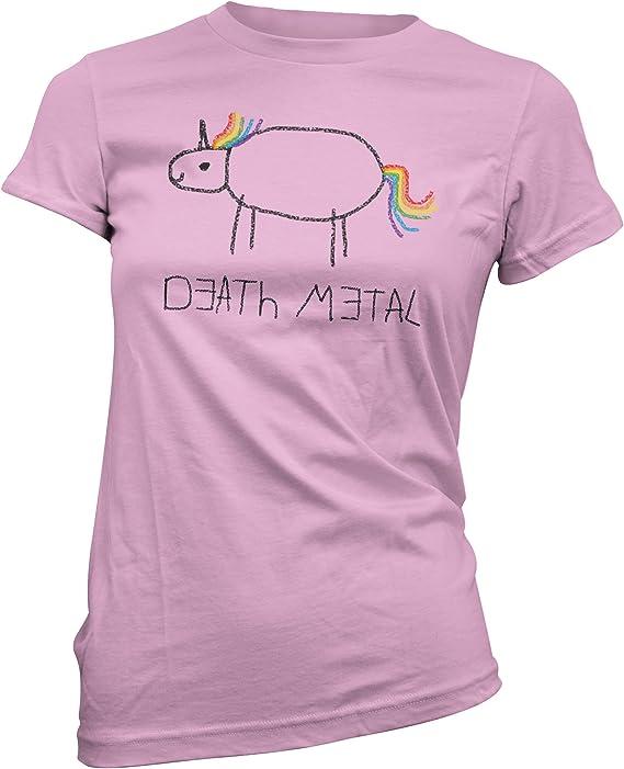 Death Metal Unicorn Girly – Camiseta: Amazon.es: Ropa y accesorios