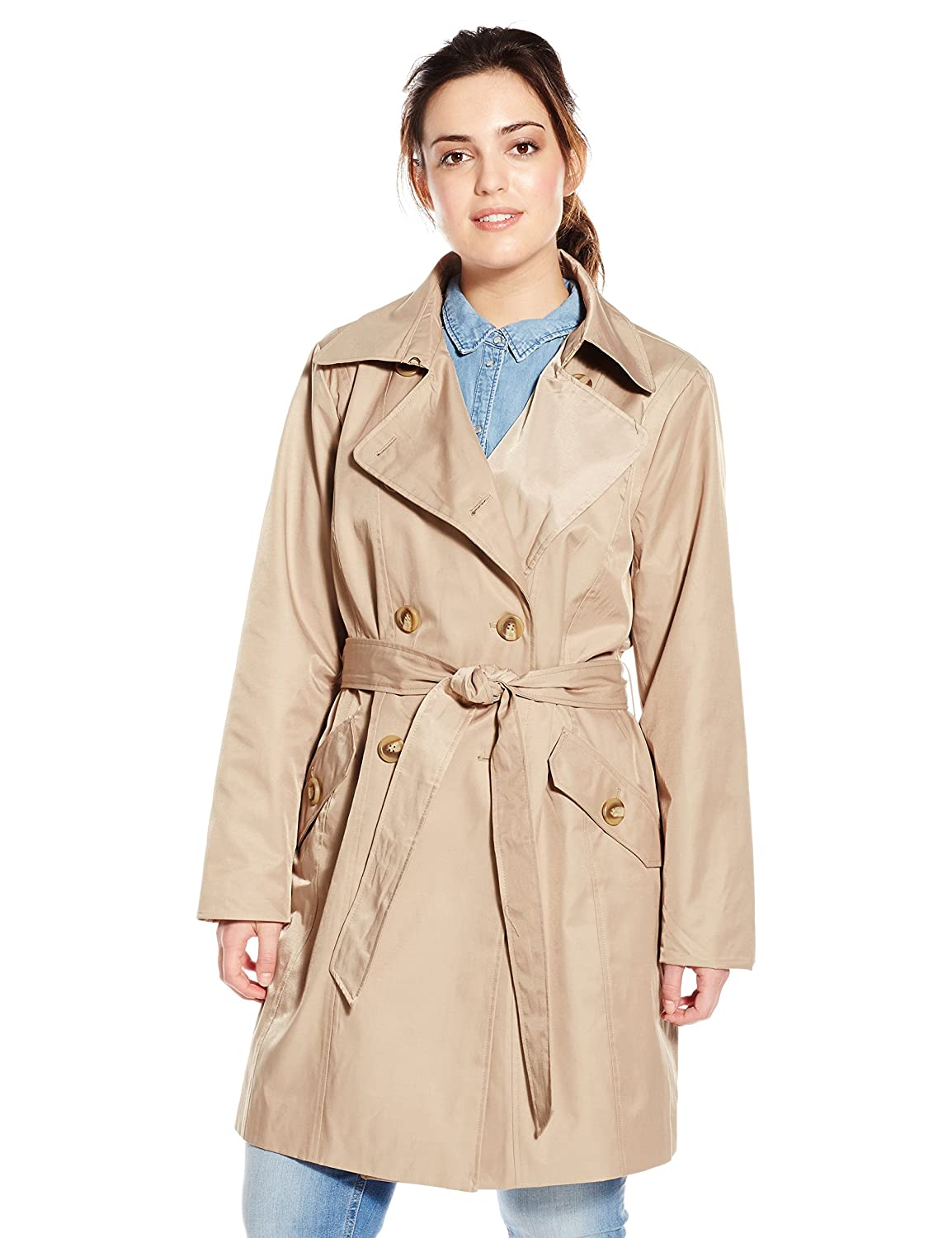 Anne Klein Women's Plus-Size Classic Double-breasted Trench Coat 3761845r93