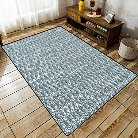 Tapis de Salon, Safari Blanc Tigre Hivernal Rare Animal ...