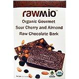 Rawmio - Organic Gourmet Raw Chocolate Bark Sour Cherry and Almond - 1.76 oz.