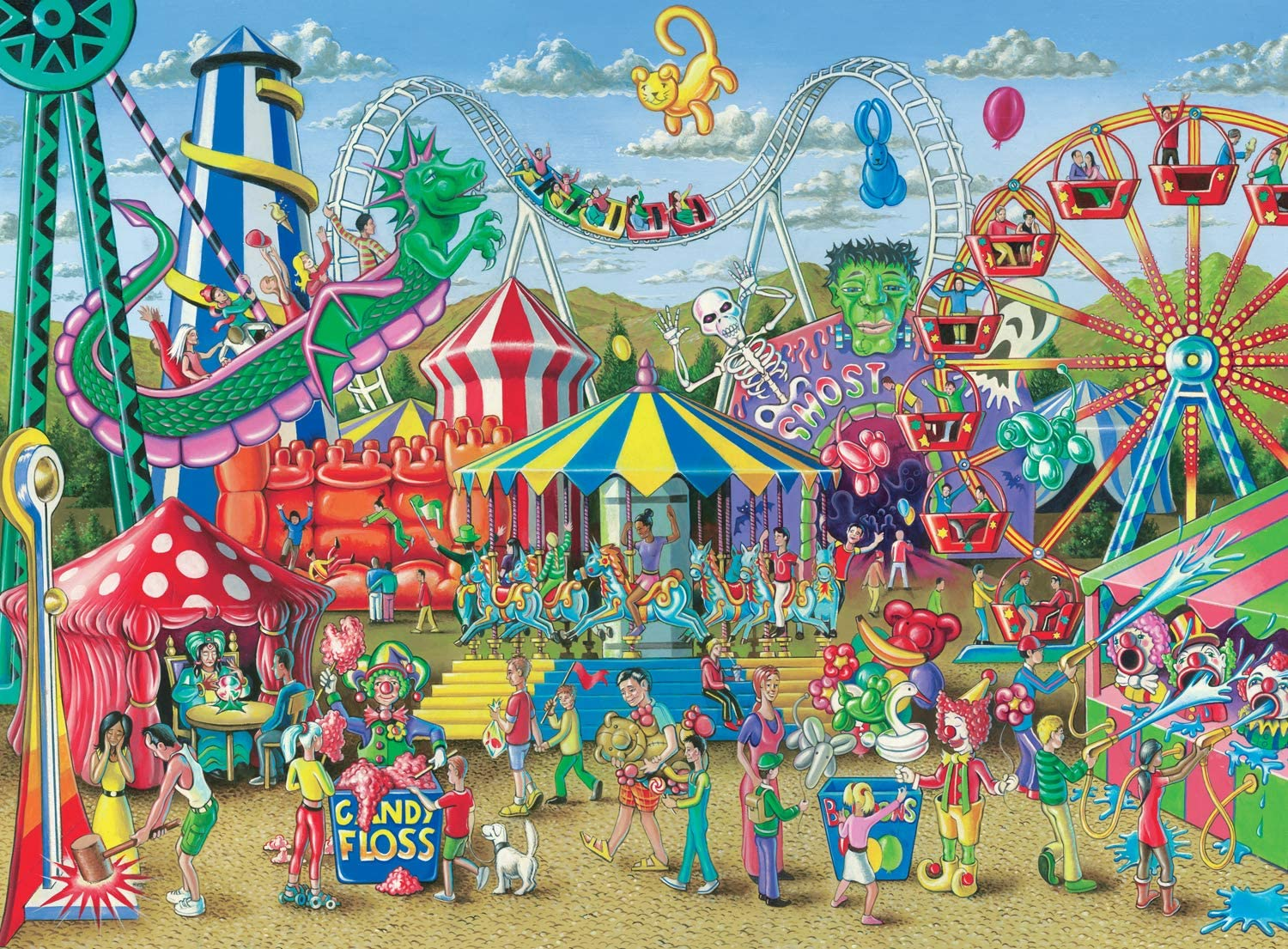 Ravensburger -Fun at The Carnival - 300 Piece Jigsaw Puzzle for Kids – Every Piece is Unique, Pieces Fit Together Perfectly, Model Number: 13231