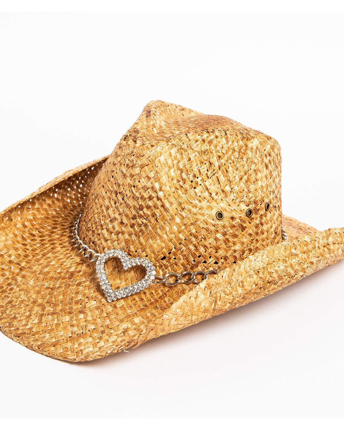 Shyanne Women's Heart Attack Cowboy Hat Brown One Size