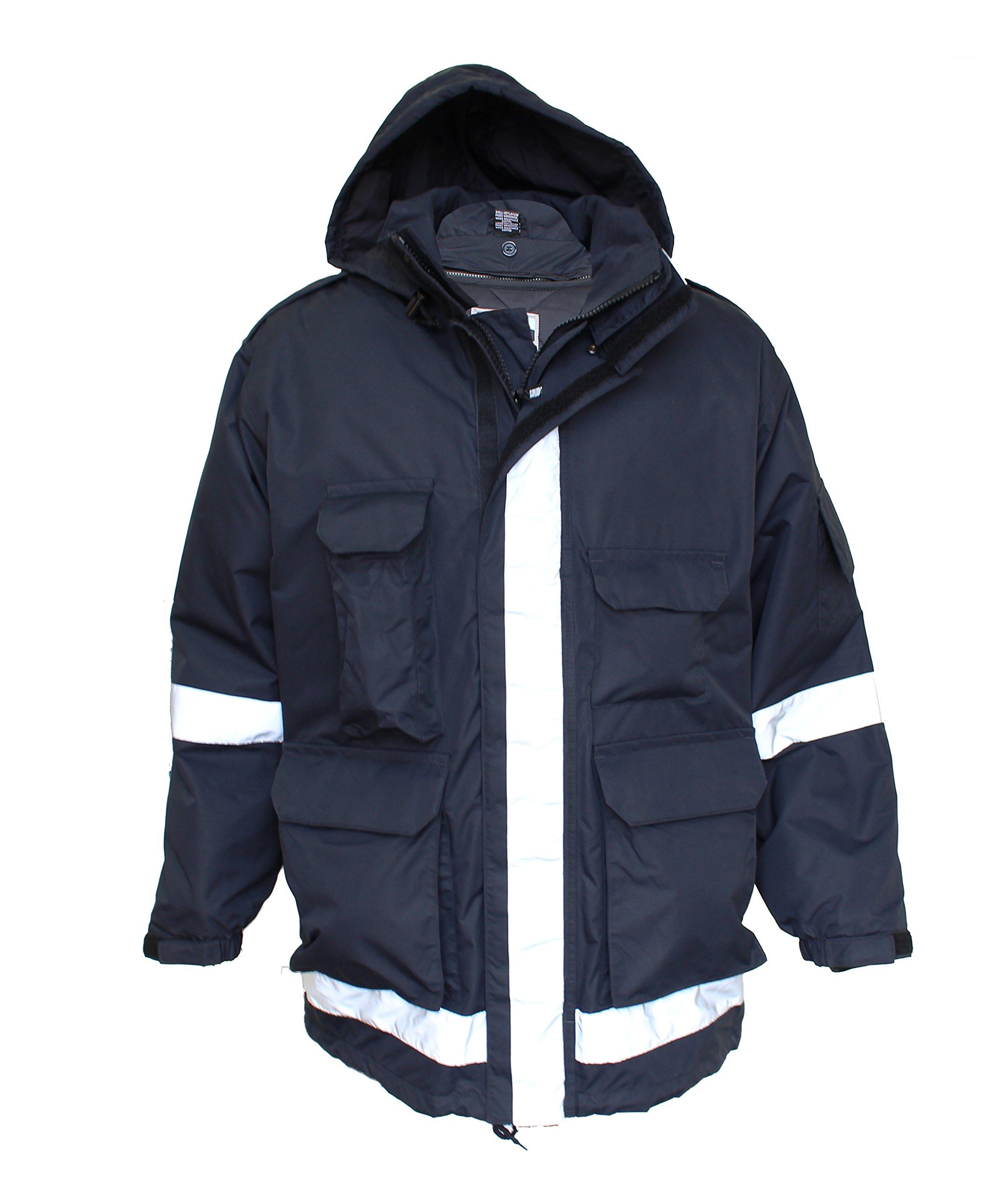 Solar 1 Clothing EMO1 EMS Jacket With Bloodborne Pathogen Protection, Navy, Large