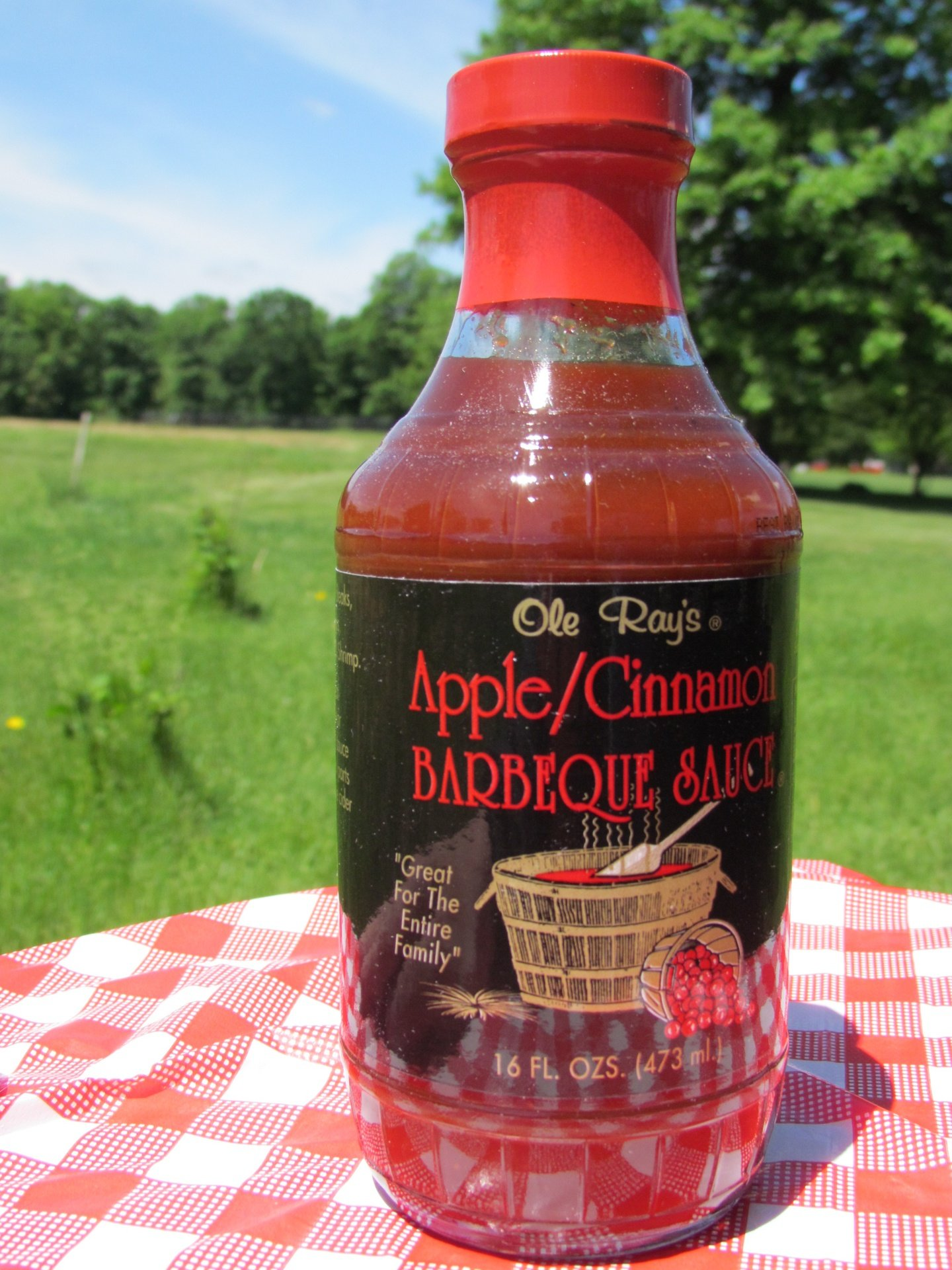 Ole Ray's Apple/Cinnamon Barbecue Sauce (2 Pack of 16 Oz. Bottles)