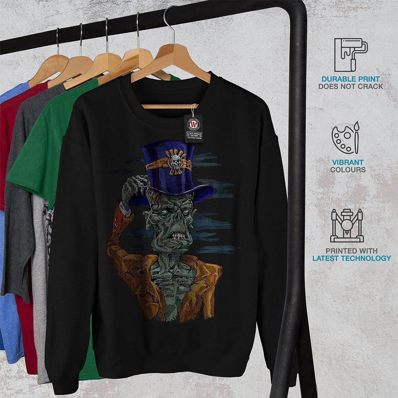 Scary Casual Jumper wellcoda Sir Hat Apocalypse Mens Sweatshirt