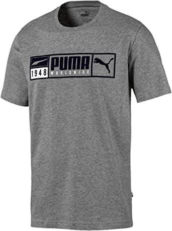 PUMA Men's Gold Plate Brand Graphic TEE