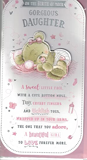new baby girl card congratulations on the birth of your precious daughter lovely quality