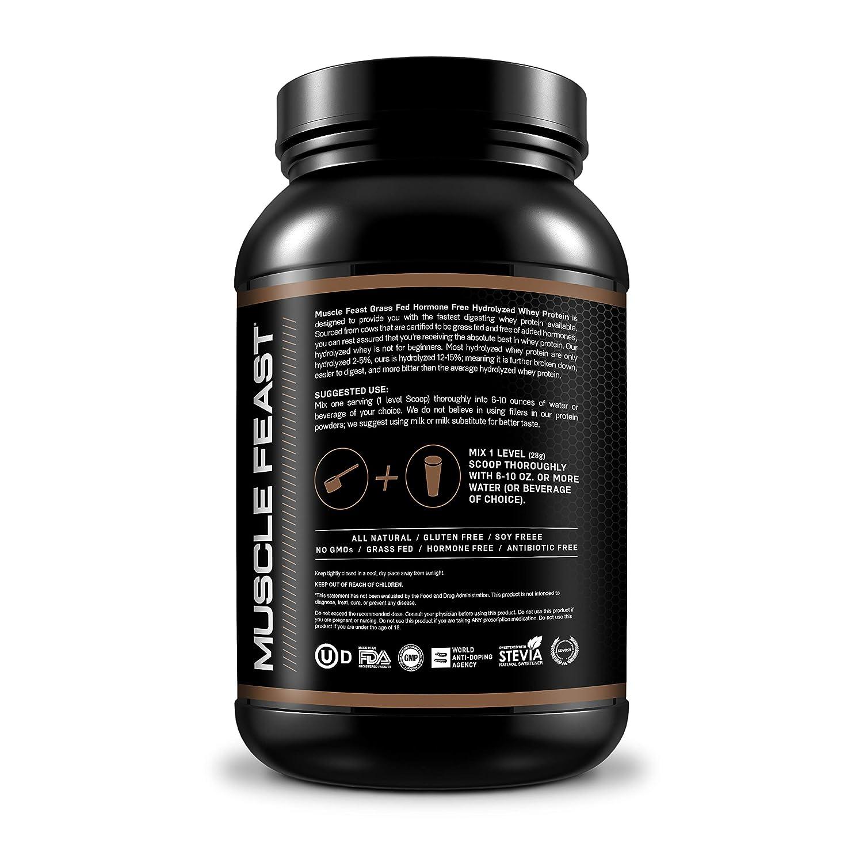 Amazon.com: Muscle Feast Proteína de suero hidrolizada, 1 ...