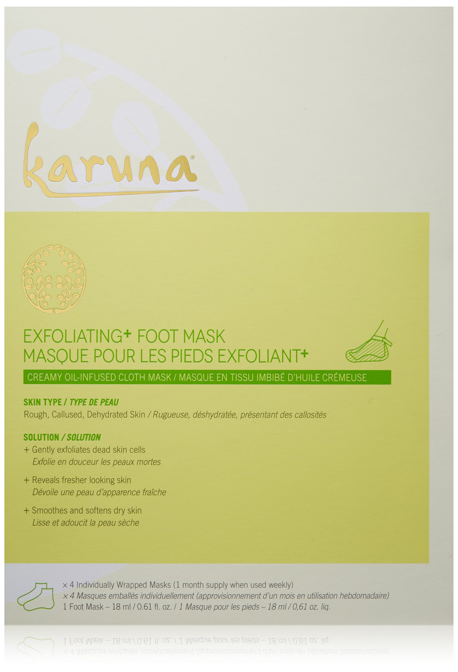 Karuna Exfoliating + Foot Mask, 2.44 fl. oz.