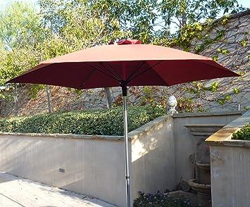 9ft Fiber Glass Ribs Market Umbrella For Restaurant, Coffee Shop Or Home