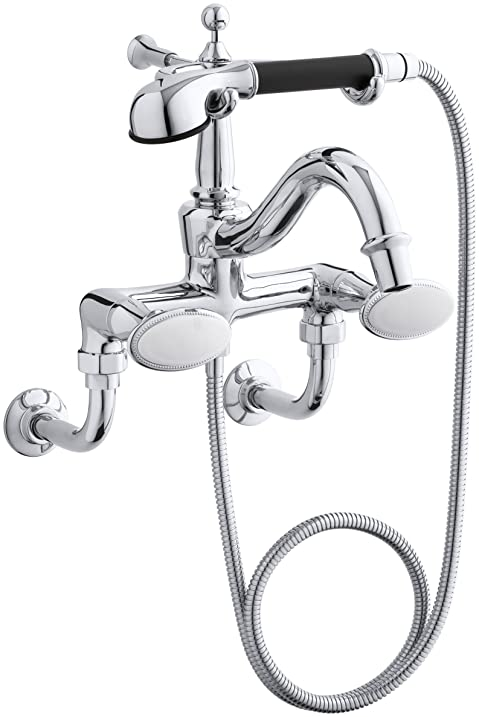 Kohler 110-9B-CP Floor- Or Wall-Mount Bath Faucet and Handshower ...