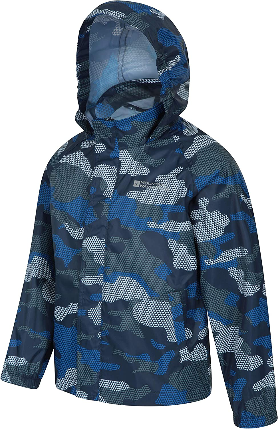 Hooded- Winter Clothing for Travel Adjustable Cuffs Water Resistant Rain Coat Outdoor Mountain Warehouse Logan Kids Padded Jacket Warm Childrens Outerwear