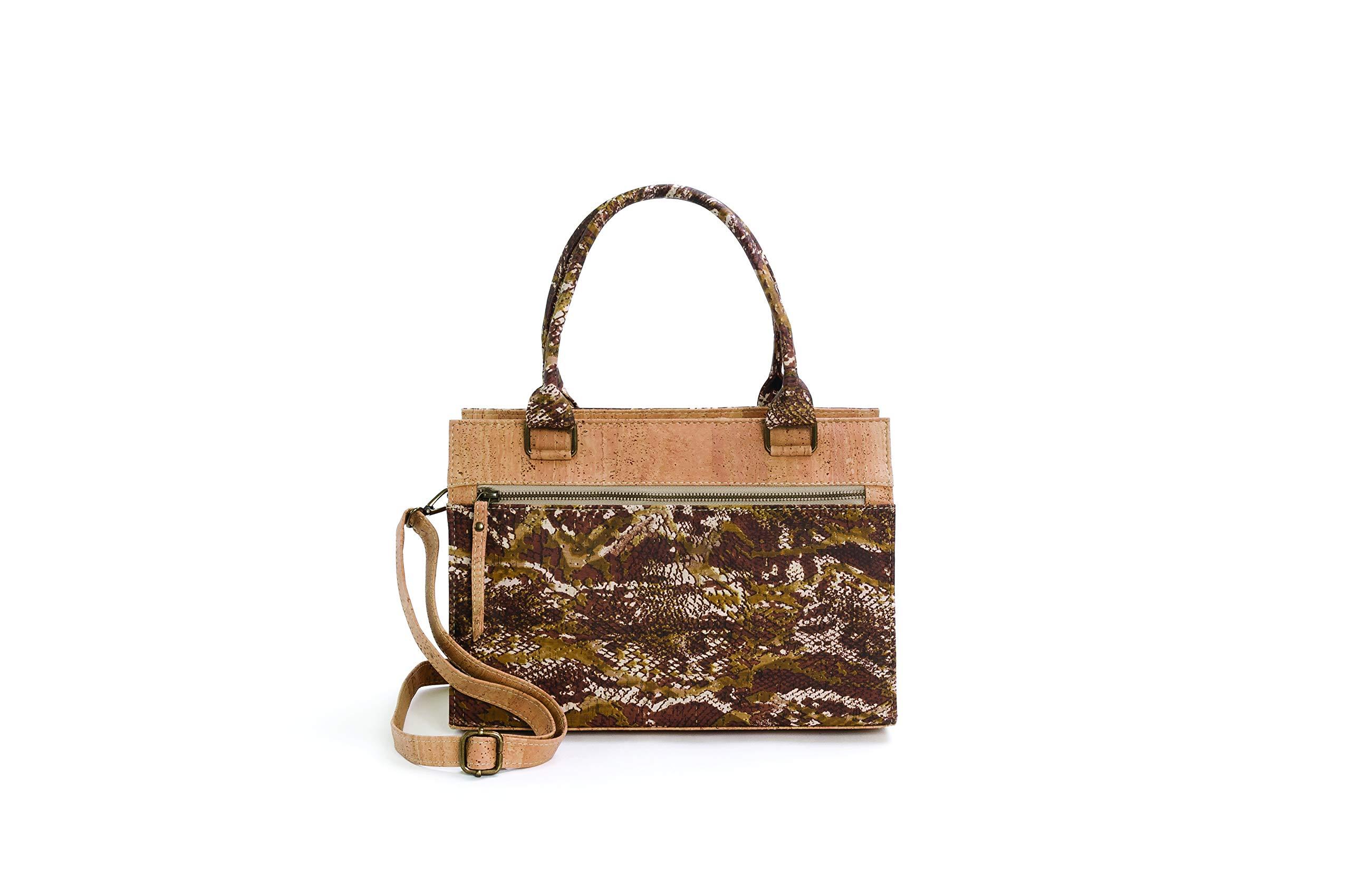 d69afafdd4ea Artelusa Cork Handbag for Women, Handmade in Portugal with Natural Premium  Cork (a Vegan Alternative to Leather - VeganoStore
