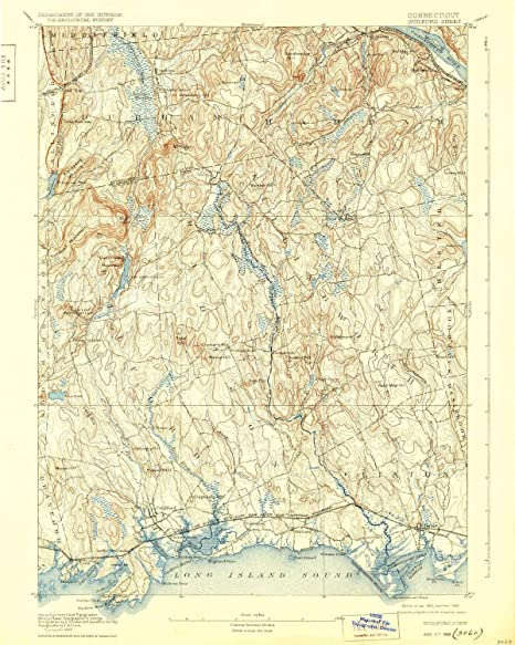 Amazon.com : YellowMaps Guilford CT topo map, 1:62500 Scale ...