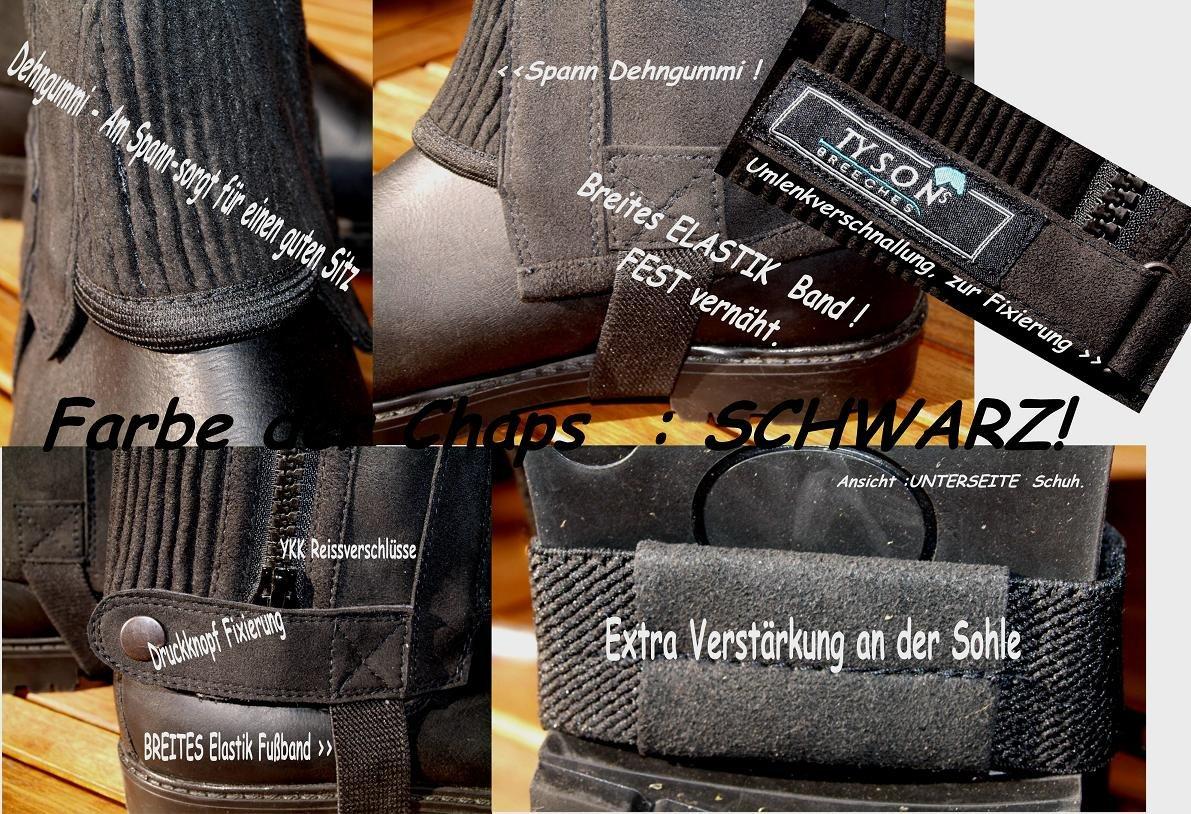 Reitchaps Extra extra weit Minichaps Reiterchaps Übergröße Beinchaps 47- 53 cm !!! Tysons Breeches