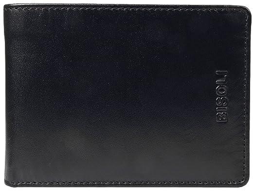 f66e24b47635b Bisoli Portemonnaie Männer Leder Schwarz BS 70 bk  Amazon.de  Koffer ...
