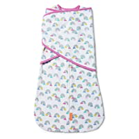 SwaddleMe Arms Free Convertible Swaddle - 1 Pack, Rainbow Showers, 3-6 Months