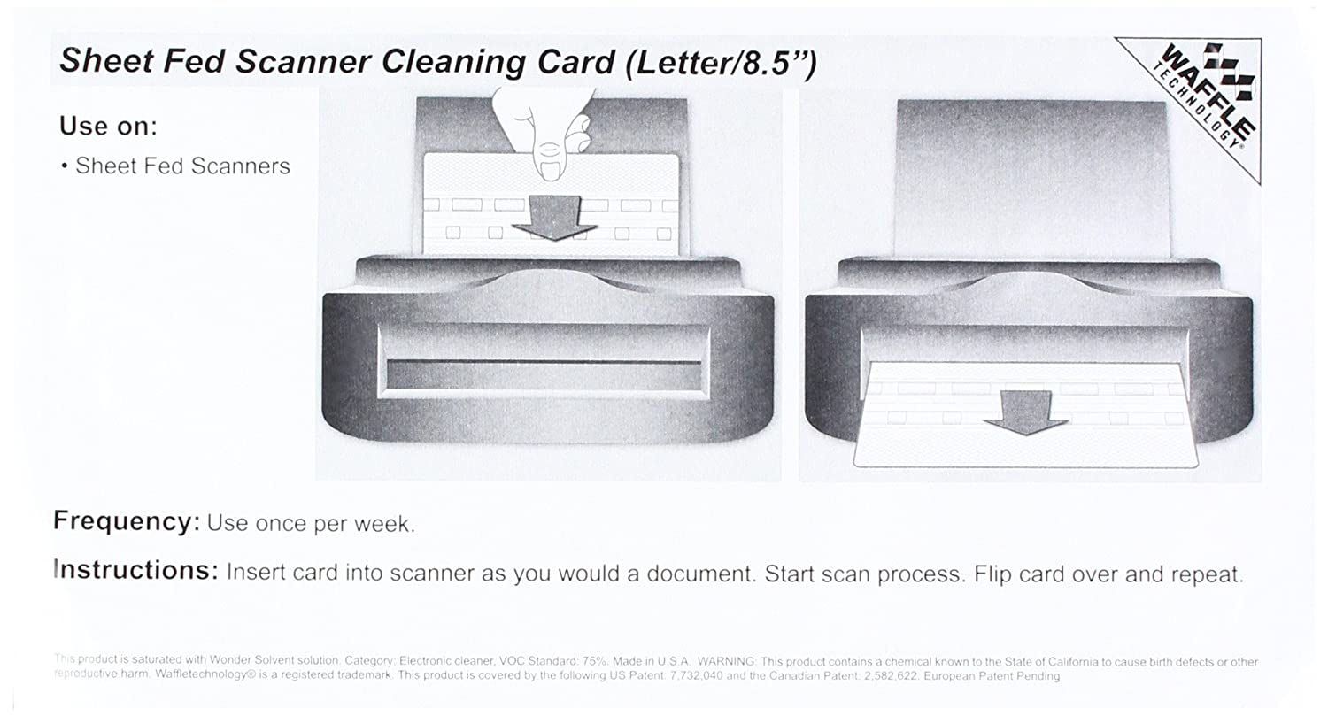 Epson CaptureOne Check Scanner Cleaning Card featuring