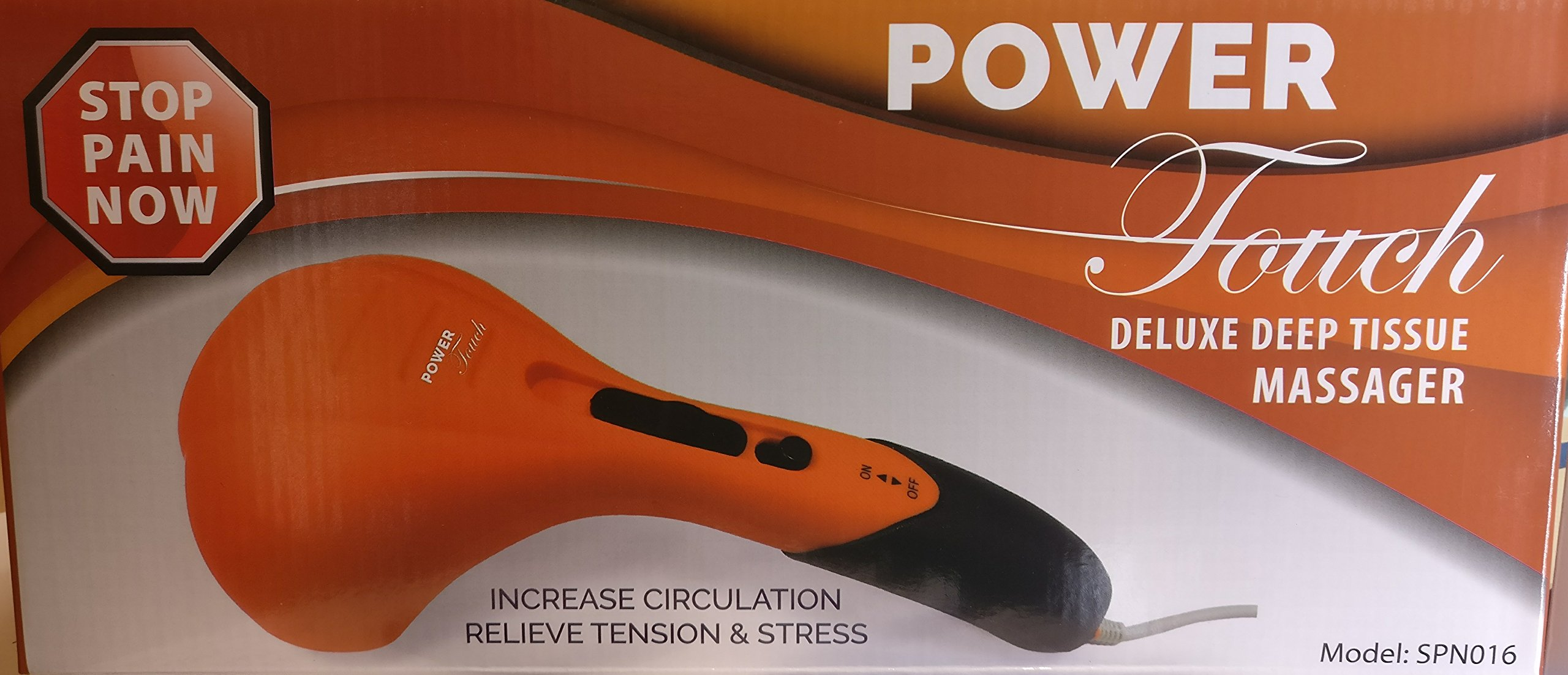 Power Touch Deluxe Deep Tissue Massager Orange