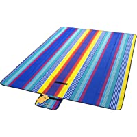 140X200cm High Quality Sand Washable Rainbow Picnic Blanket Waterproof Mat Outdoor Rug Festival Beach Travel Camping AU