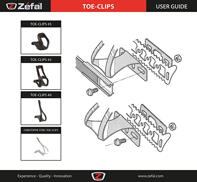 TOE CLIPS ZEFAL Moutain Bike w//STRAPS S//M