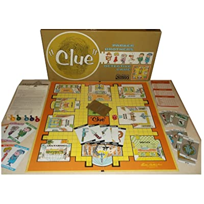 Clue Detective Game (1963 Vintage): Toys & Games