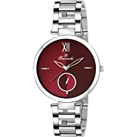 Buccachi Analogue Red Round Dial Watch for Women's (B-L1044-RD-CH)