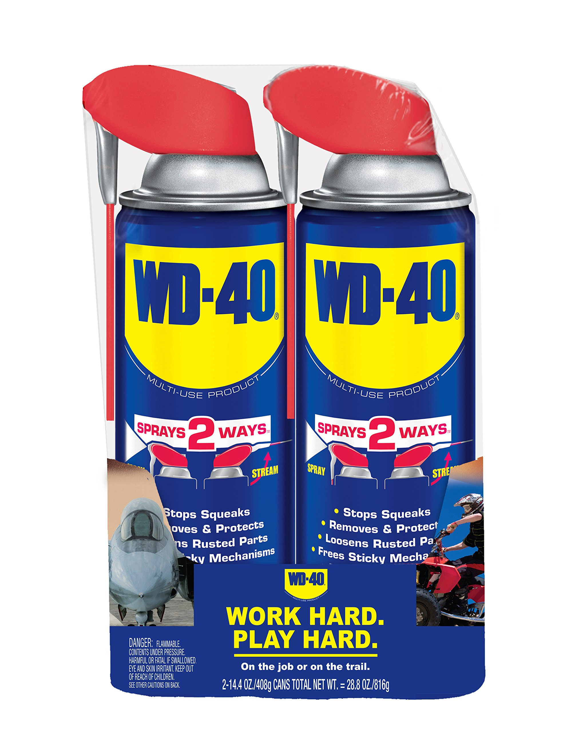 WD-40 490224 Multi-Use Product, 14.4 oz. Smart Straw Twin-Pack by WD-40