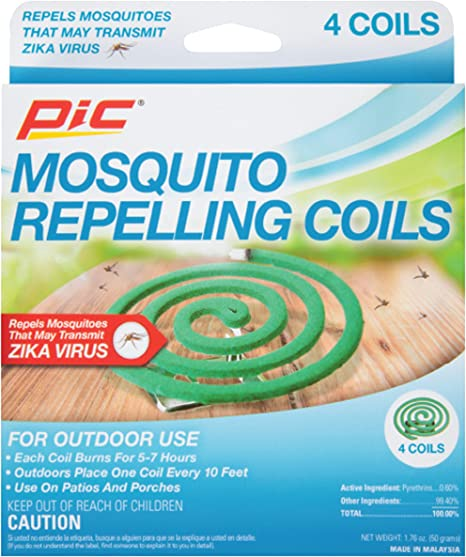 Amazon Com Pic C 4 12 Mosquito Repellent Coils 4 Pack Brown A