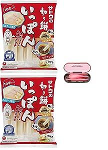 Japanese Mochi Sato Kirimochi Rice Cake Stick type, 10pcs x 2 Pack including chopsticks