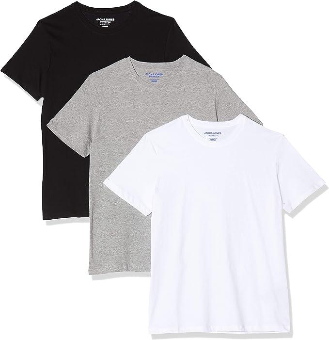 Jack & Jones Jorbasic SS Camiseta, Azul (White Detail: Reg Fit ...