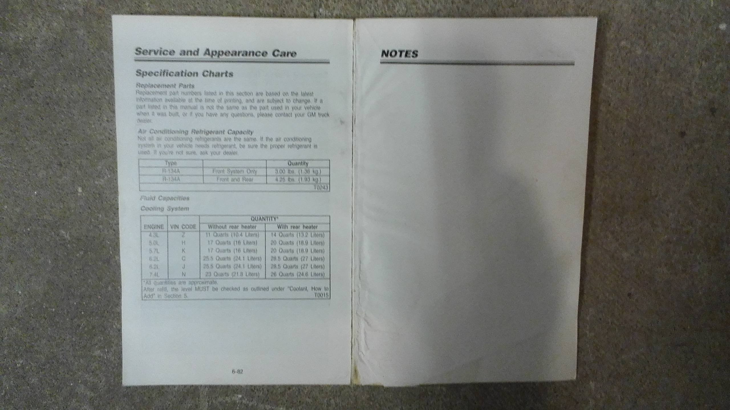 1993 Chevrolet Chevy Van Owners Manual General Motors