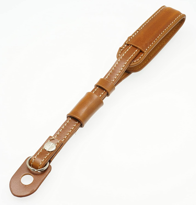 Gadget Place Light Brown Classy Leather Wrist Strap for Sony Cyber-shot DSC-WX350 WX220 W830 W810 RX1R RX100 II HX50V WX300 TX30 WX80