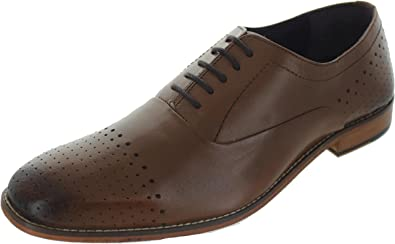 56e58a68e6e Gucinari Men s AMP-036 Brogue Shoes Tan 11 UK  Amazon.co.uk  Shoes ...