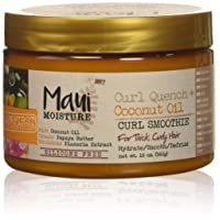 Maui Moisture Curl Quench + Coconut Oil Curl Smoothie, 12 Ounce, Creamy Silicone...